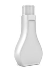 Bottle on white background. Isolated 3D image