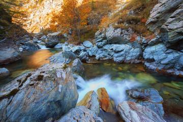Fiume a Val di Susa (Piemonte)