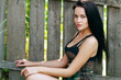 woman poses outdoor