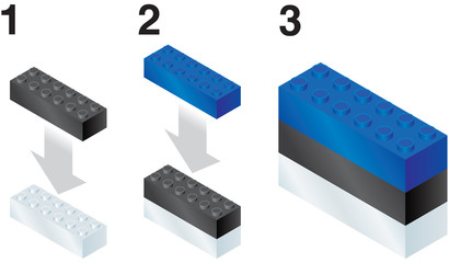 Building blocks making Estonian flag