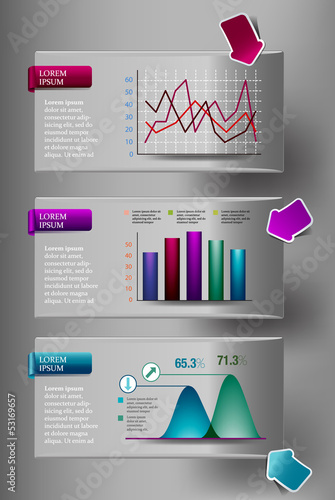 INFOGRAPHIC presentation template graph pie chart element