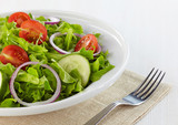 Fresh healthy salad with vegetables