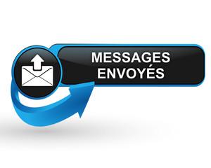 messages envoyés sur bouton web design bleu