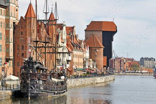 Leinwandbild Motiv Old town of Gdansk