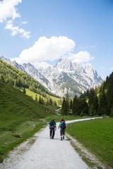 Bergtour in den Alpen