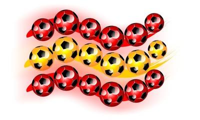 ESPAÑA - bandera balones de futbol
