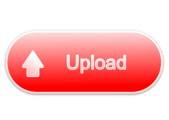 Upload button red (vector)