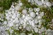 Leinwandbild Motiv Big ice balls hail