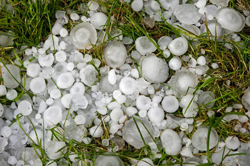 Big ice balls hail