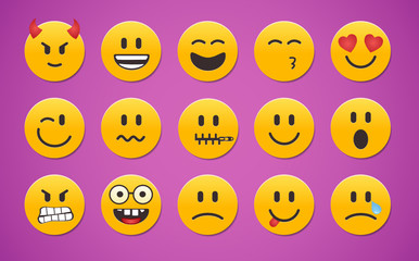 Many Facial Expression of smileys