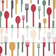 Vector Illustration of an Background with Abstract Cutlery