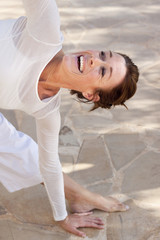 Happy yoga woman