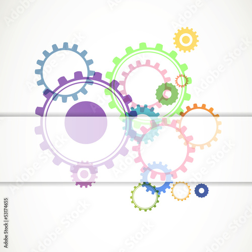 Vector Illustration of Abstract Cog Wheels