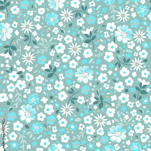 little popcorn flowers seamless background