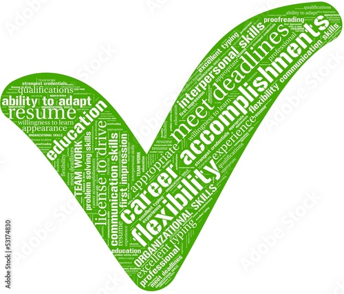 Word cloud with qualification terms