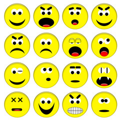 Smileys gialli set 1