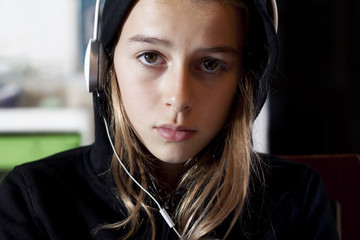 Teen Girl with Hoodie