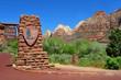main entrance, Zion National park, Utah, United states