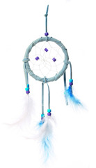 blue dream catcher isolated on white background