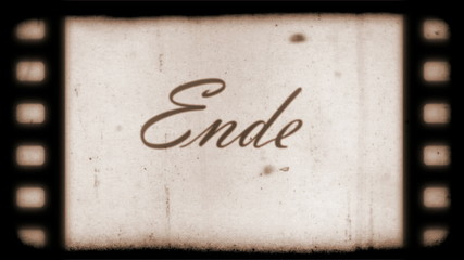 The End Vintage Filmstrip (in German)