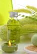Wellness Grün Gras Öl Selfe