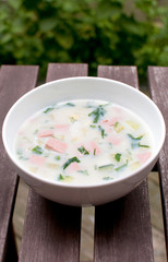 Summer cold russian soup