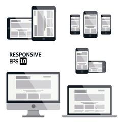 Responsive Web Design  | Glossy Icon