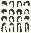 Vector Set: Woman's Hairstyle SIlhouettes - 53179207