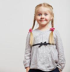 Kid girl fashion isolated portrait