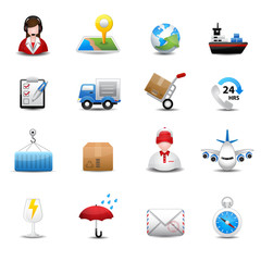 Delivery and Logistic Shipping icons