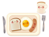 Set of Lovely Breakfast  - Vector File EPS10