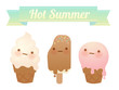 Melting Ice Cream Collection - Vector File EPS10
