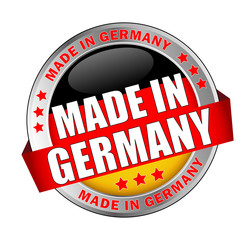 Icon Button Made in Germany bessere Typografie rot