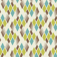 Seamless retro vintage diamond pattern 3