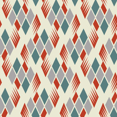 Seamless retro vintage diamond pattern 1