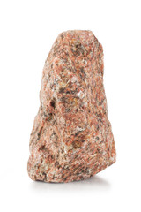 Piece of red granite