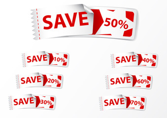 Discount Labels tags