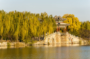 Willow bridge in the morning, Summer Palace, Beijing