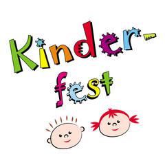 """Schriftzug """"Kinderfest"""""""