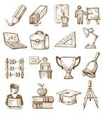 Fototapety hand drawn education