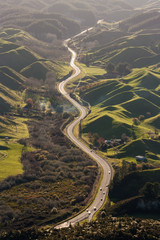 highway across volcanic landscape