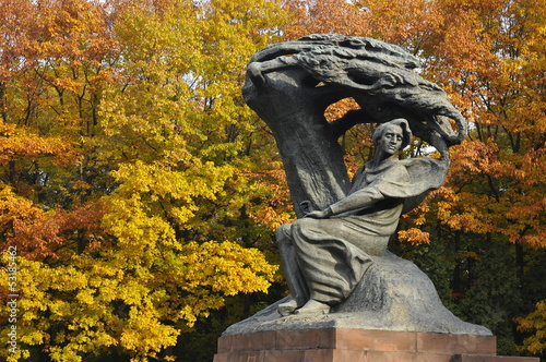 Frederic Chopin monument in Warsaw