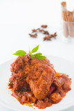 curry rendang chicken, indian cuisine with traditional food item