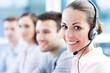 canvas print picture - Call center team