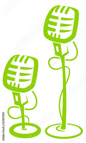 old fashioned microphone vector