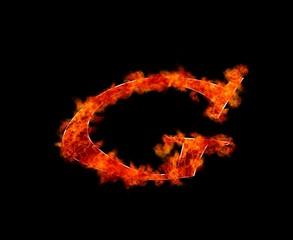 G en llamas.