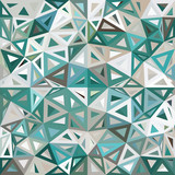 Blue and gray mottled abstract triangles