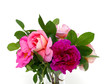 beautiful roses in a glass vase