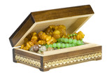 jewelry box with beads