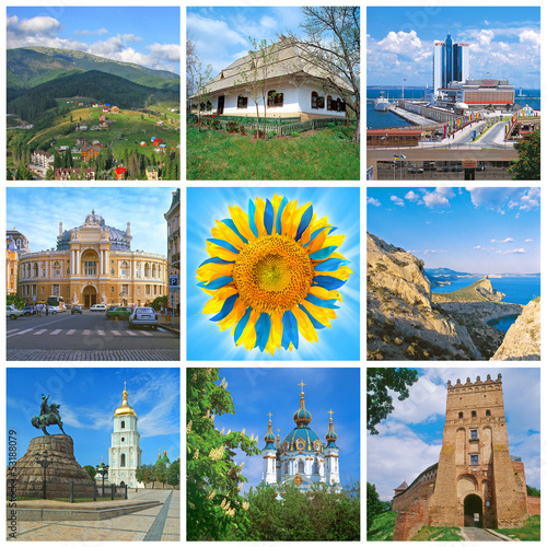 Ukraine landmarks collage